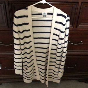 Ol Navy striped cardigan